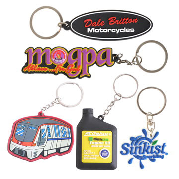Large 2D Custom Shape Key Ring 80mm