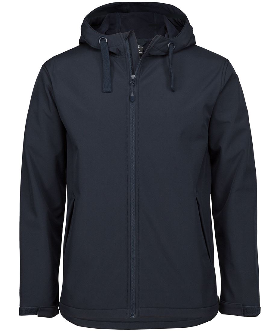 Water Resistant Hooded Softshell Jacket
