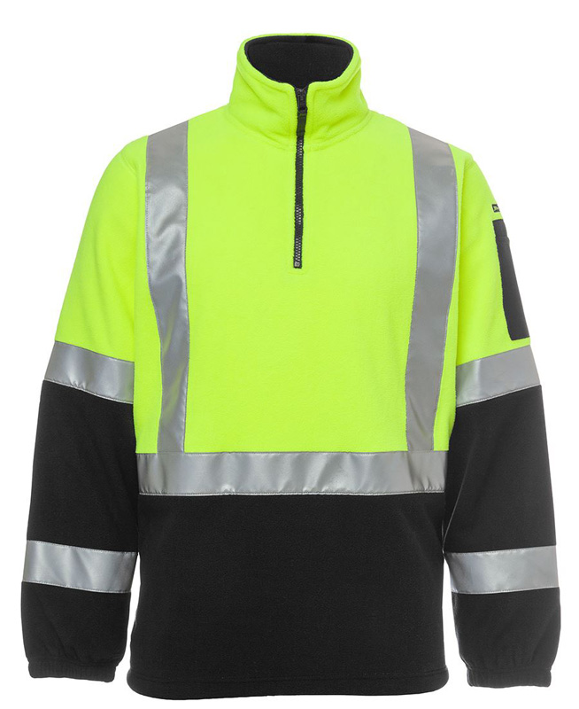 JB Hi Vis (D+N) Pattern Biomotion 1/2 Zip Polar Fleece