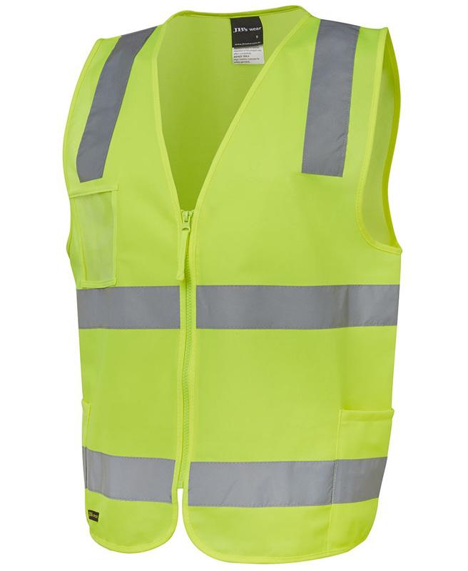 JB Hi Vis (D+N) Zip Safety Vest