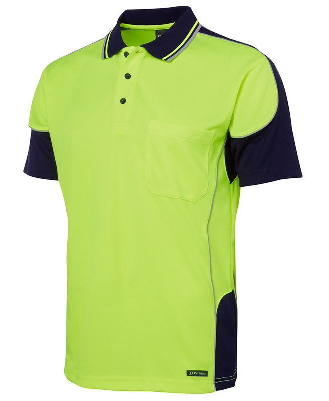JB Hi Vis Contrast Piping Polo