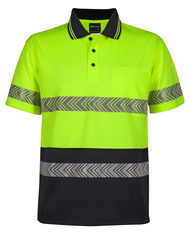 JB  Hi Vis Segmented Tape Polo