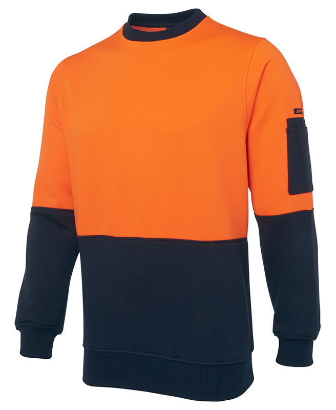 JB Hi Vis Fleecy Crew Neck Top