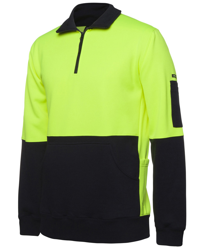 JB Hi Vis 330G 1/2 Zip Fleece
