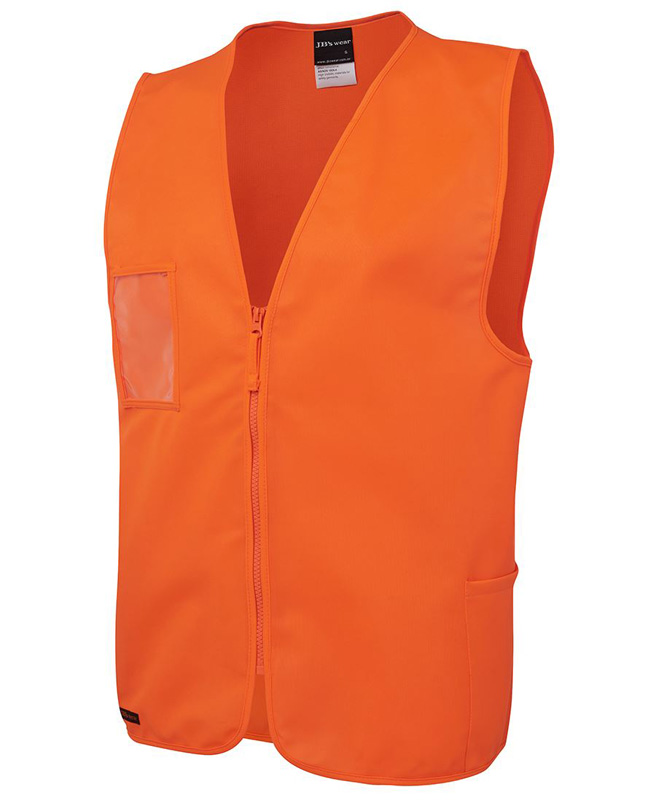 JB Hi Vis Zip Safety Vest
