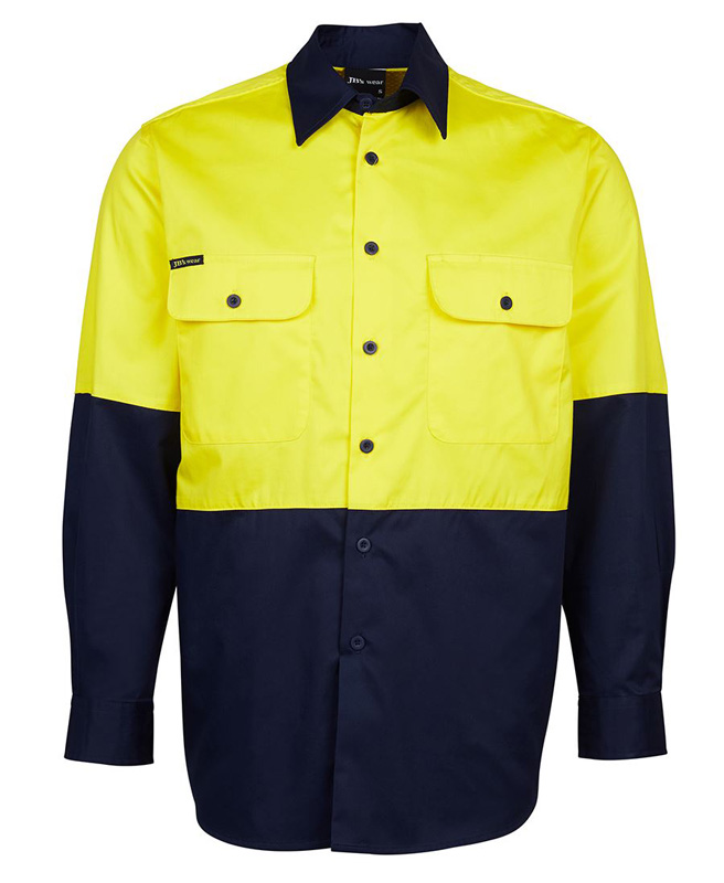 JB Hi Vis Traditional Work Shirt 150G