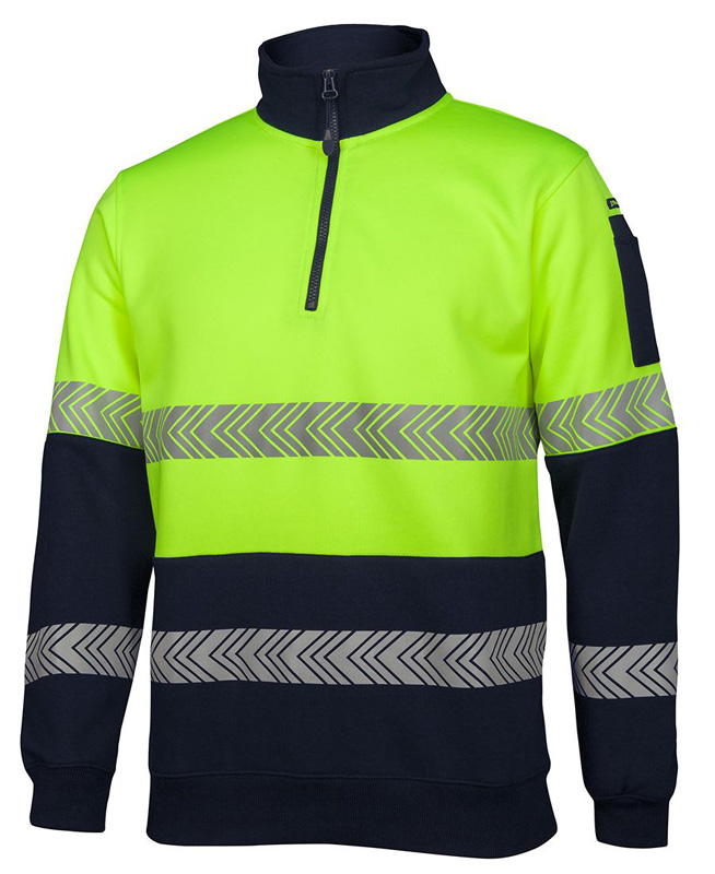 JB Hi Vis 1/2 Zip Segmented Tape Fleece Top