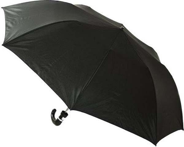 Auto Opening Mens Folding Umbrella With Hook Handle