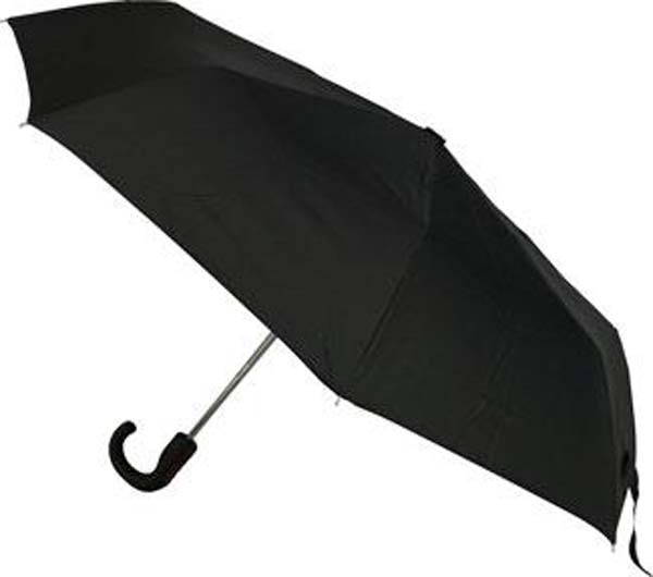 Mens Auto Opening Hook Handle Folding Umbrella
