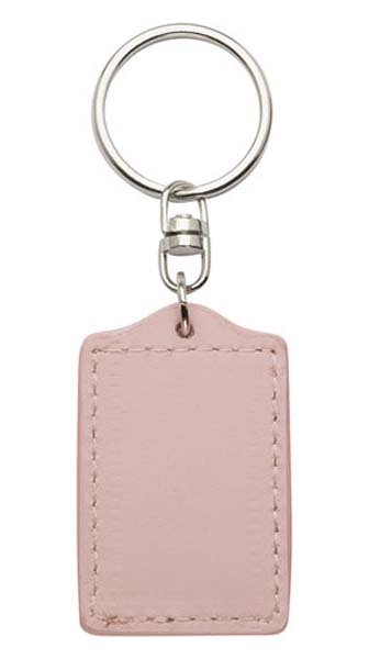 Bonded Leather Keyring