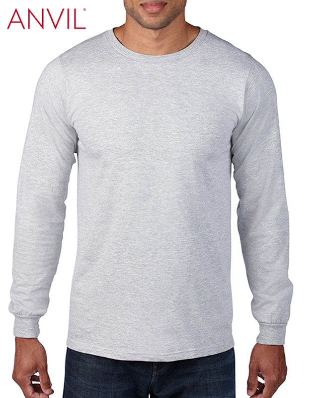 Gildan Anvil Adult Long Sleeve Ringspun Tee
