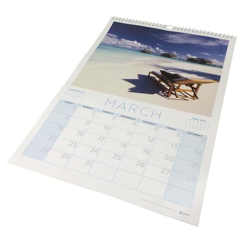 A3 Wiro Bound Wall Calendar