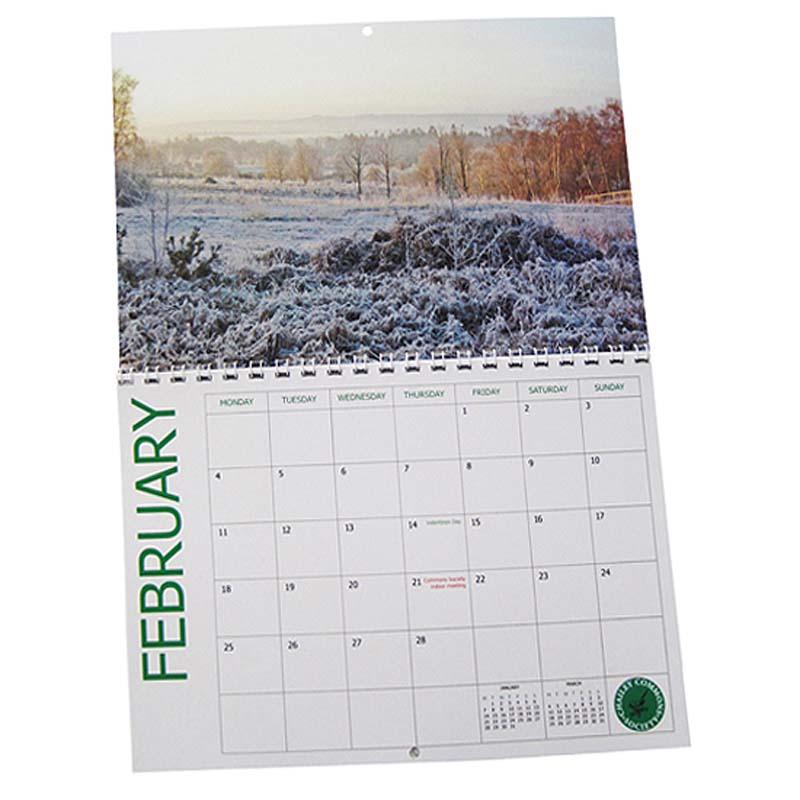 A4 Wiro Bound Wall Calendar