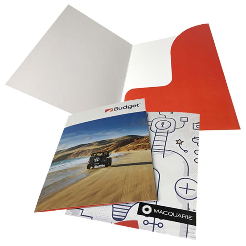 Single Pocket Digital Presentation Folder