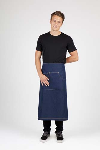 Denim Full Length Apron