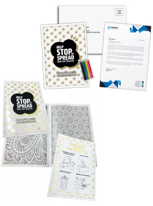 Stay Home Colouring Book Set
