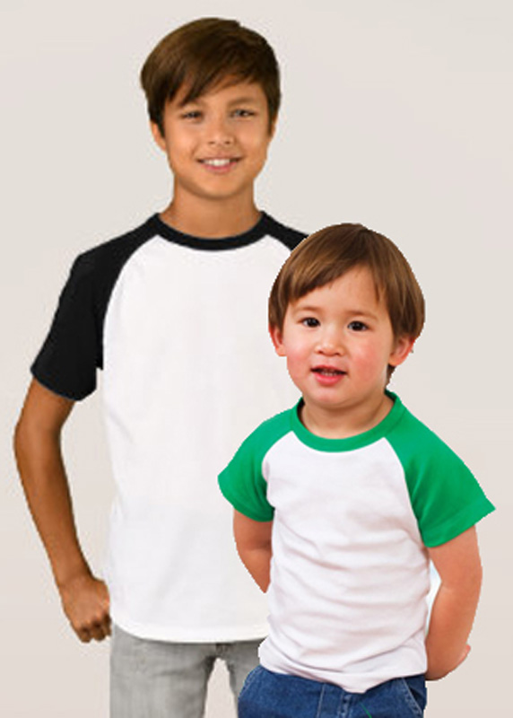 Organic Cotton -Kids Raglan T-shirts