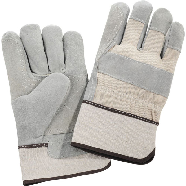 Safety Works Double Palm Leather Gloves White Cuff