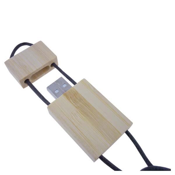 Bamboo Lanyard Flash Drive - 4GB