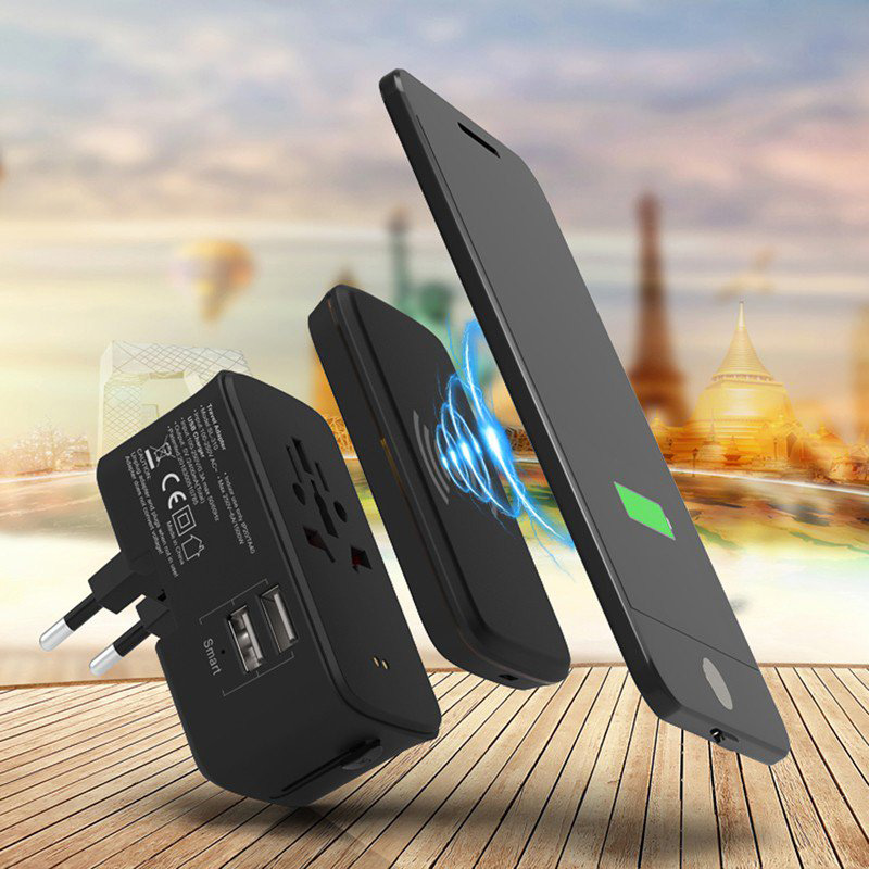 Portici Travel Adaptor with Fast Wireless Charger