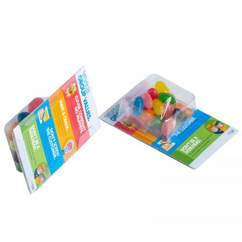 Small Biz Card Treats with Jelly Beans