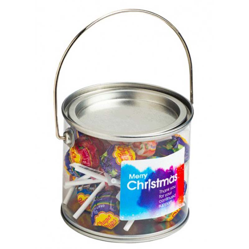Medium PVC Bucket filled with Chuppa Chups
