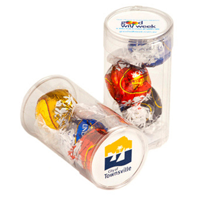Pet Tube Filled with Lindor Balls