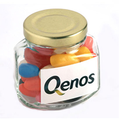 Jelly Beans in Squexagonal Jar 90G