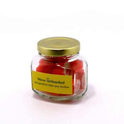 Rock Candy in Squexagonal Jar 65g