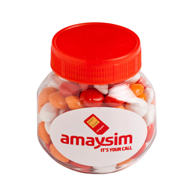 Plastic Jar Filled with Chewy Fruits 170G