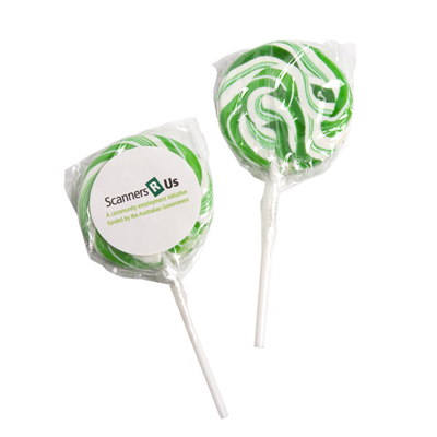 Medium Candy Lollipops - Green