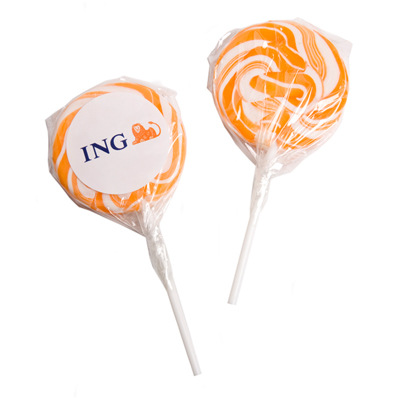 Medium Candy Lollipops - Orange