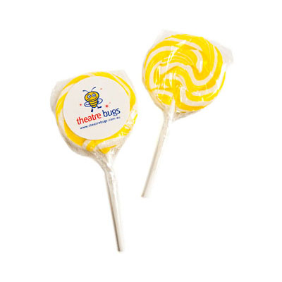 Medium Candy Lollipops - Yellow