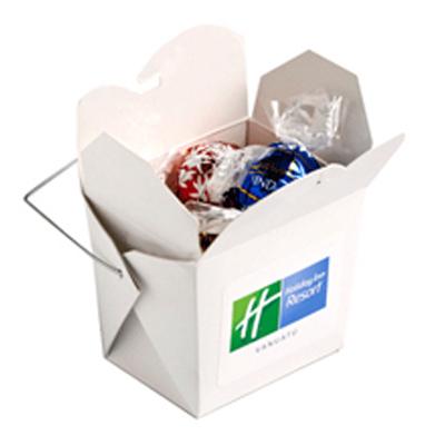 White Noodle Box - Lindor Balls x5