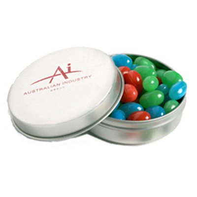 Candle Tin Filled with Mini Jelly Beans 50G