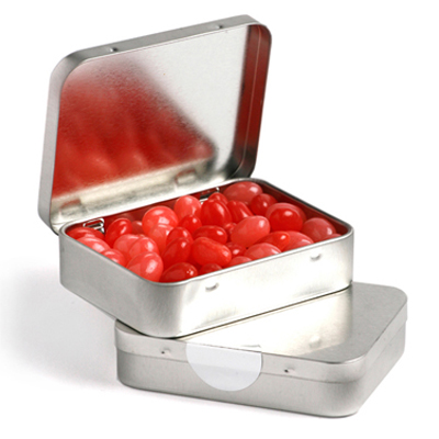 Rectangle Hinge Tin Fillled with Jelly Beans 65G