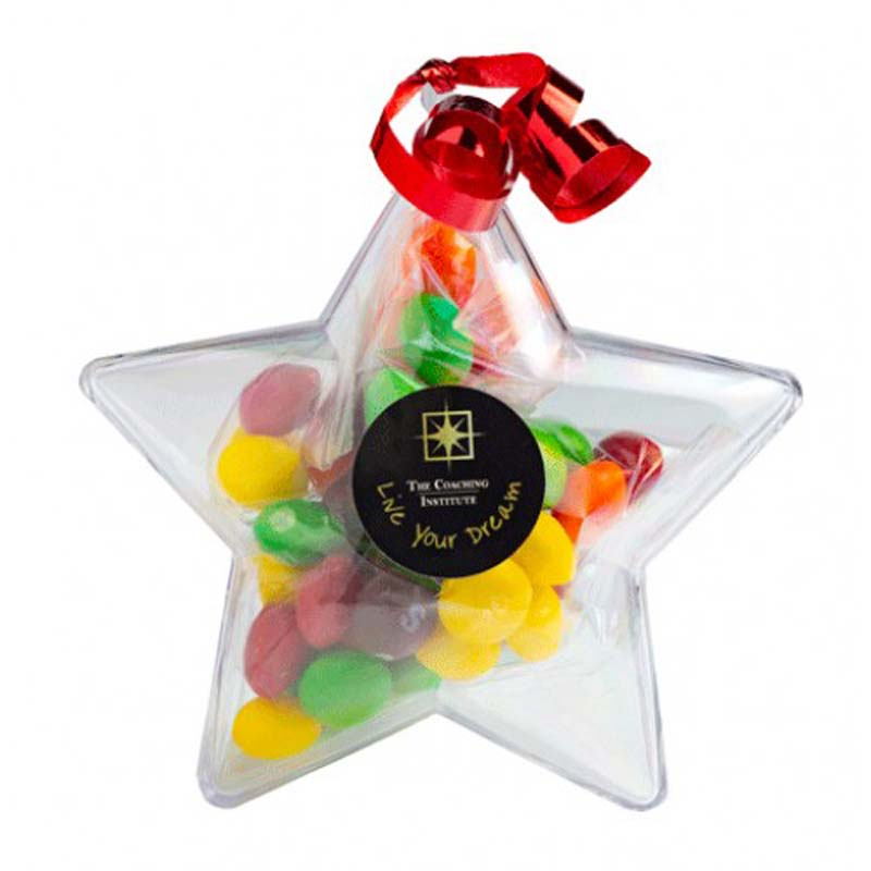 Acrylic Star with Skittles 50g