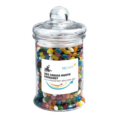 Big Apothecary Jar Filled With Jelly Beans