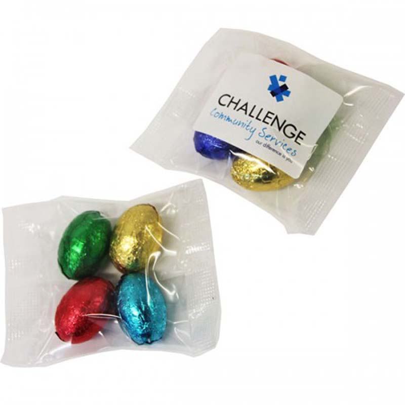 Mini Solid Easter Eggs In Bag x4