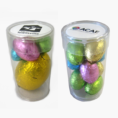 Tube Filled With Easter Eggs