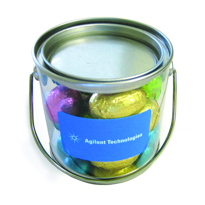 Small Bucket Filled With 16 Mini Easter Eggs