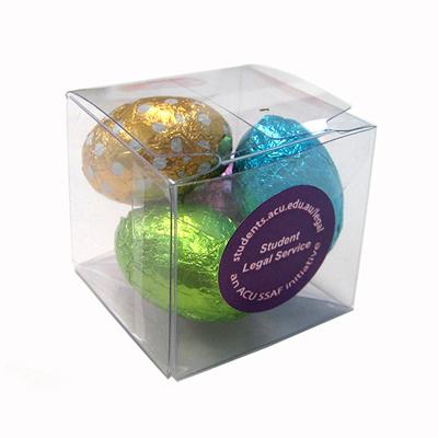4 Mini Easter Eggs in Cube