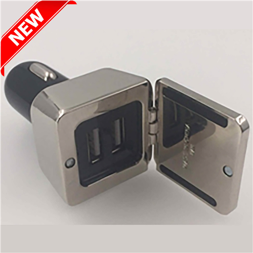 Dual Square Metal Car Charger