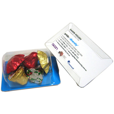 Biz Card Treats With Christmas Chocolates