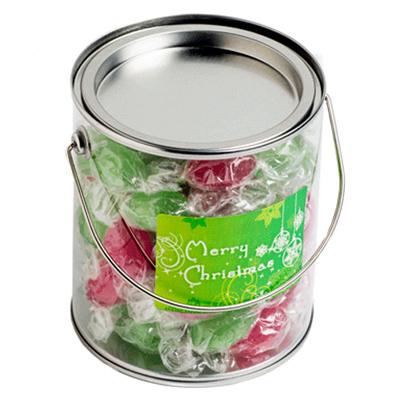 Big Bucket With Christmas Boiled Lollies