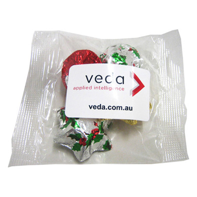 Cello Bag Filled with Christmas Chocolates