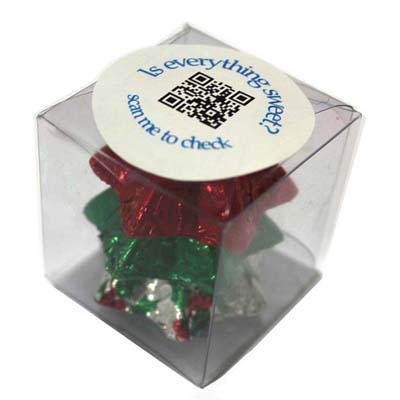 Cube Filled with Christmas Chocolates 30G