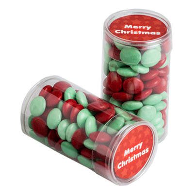 Pet Tube Filled With Christmas Choc Beans