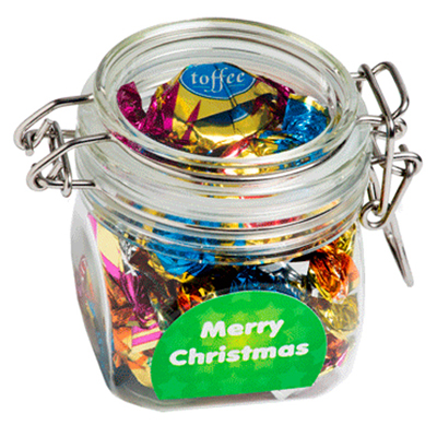 Christmas Chocolate Eclairs In Canister