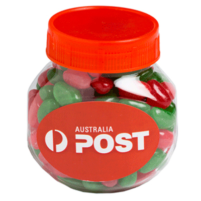 Plastic Jar Filled With Christmas Jelly Beans 170G
